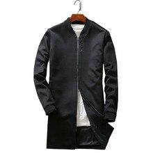 Im herbst 2017 die neue herren langarm mantel staubmantel kragen jacke langen Chinesischen stil mode