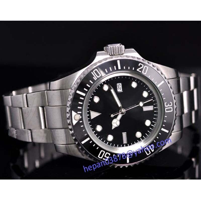 Parnis horloge 44mm Steriele zwarte wijzerplaat lichtgevende Keramische Bezel ZEE Hommage Automatisch uurwerk horloge 65-in Mechanische Horloges van Horloges op  Groep 2