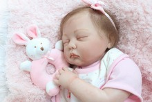 55cm Silicone Reborn Dolls Sleeping Baby Toy Soft Silicone Doll Girl toys Kids Birthday Gift bebe alive reborn bonecas