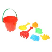7Pcs Sand Beach Toys Bucket Spade Shovel Rake Dune Water Tools Set For Children Drop shipping(China)