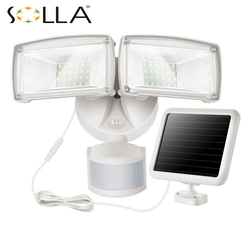 Outdoor Solar powered LED flood Lights with 4.5M wire+3.7V/1500mah battery 48LED pir Motion Sensor Solar Light solar battery powered butterfly random color