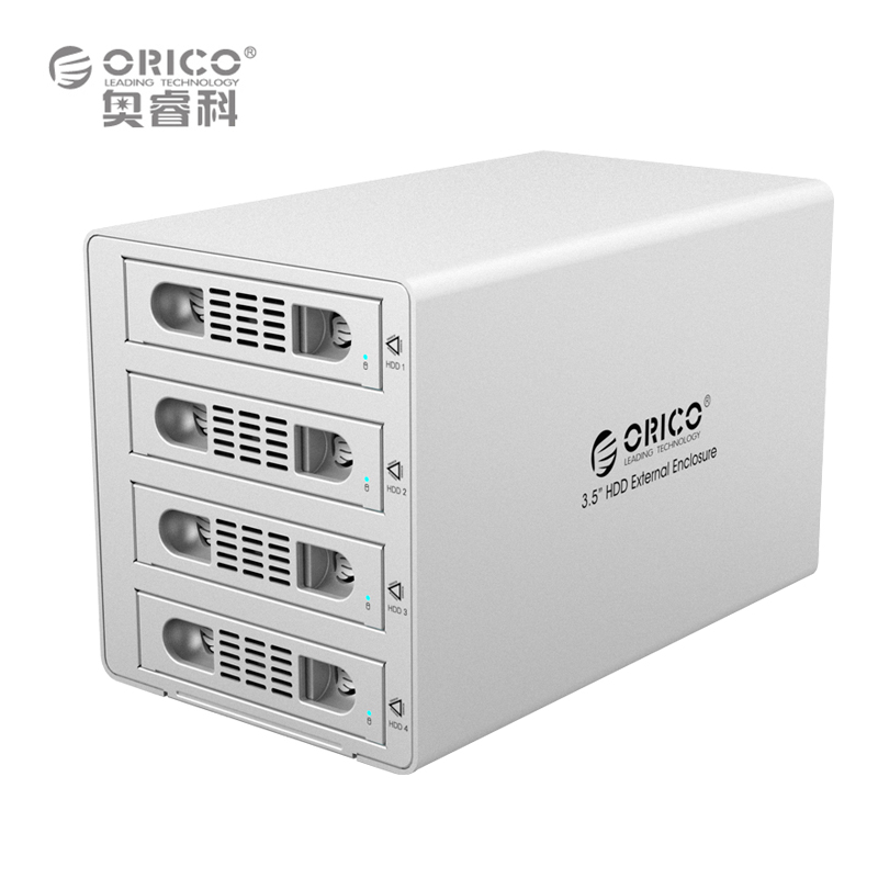 ORICO 3549RUS3 Tool Free Aluminum 4 Bay 3.5 SATA2.0 USB3.0 HDD External Docking Station RAID Function 4*8TB HDD Case