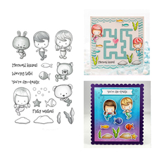 YaMinSanNiO Summer Fun Die Stamps Animals Character Cutting Metal Craft Dies New 2019 Frame Scrapbooking for Card Making Diecut