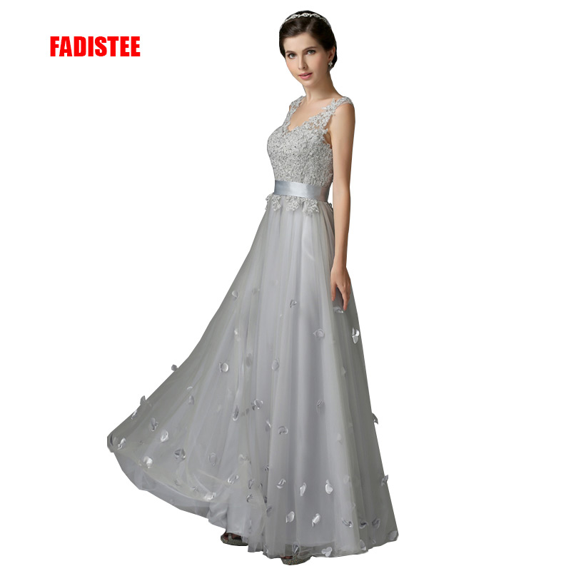 FADISTEE New arrival elegant evening dress prom party dresses appliques dress A line flowers lace up