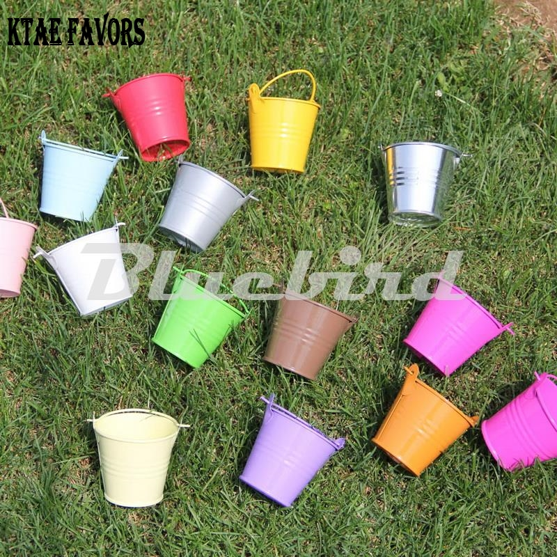 KATE FAVORS 10Pcs Mini Cute Chocolate Candy Bucket Keg Wedding Birthday Party Pails Bag Gift Toys For Kids in Gift Bags Wrapping Supplies from Home Garden