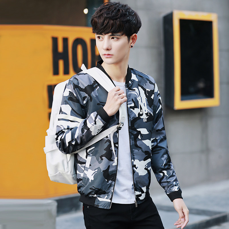 Online Shop 2017 jacket men short Camo denim baseball costume war ...
