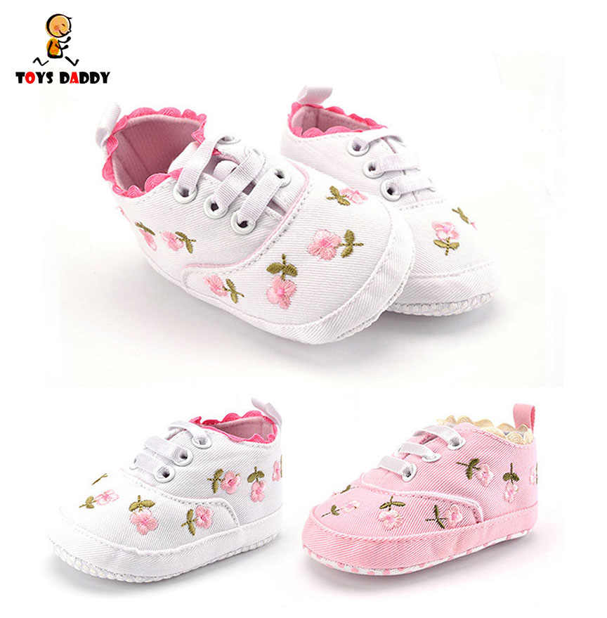 1 Pair Baby Girl Shoes White Pink Lace
