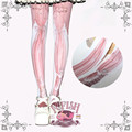 Princess sweet lolita pantyhose The cat books printing of pink curtain pantyhose LKW03