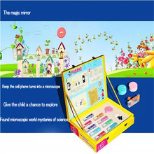 Children toy science experiment portable mobile phone microscope Christmas Cultivate imagination and creativity of toys
