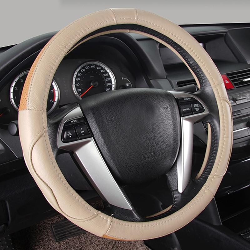Black x Red Car Steering Wheel Cover Leather Steering Wheel Covers for Suzuki Jimny Grand Vitara Kazashi Cover Steering Wheels