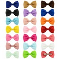 1 Pcs Mini 2.75'' Bow Tie Hair Clip Small Sweet Baby Girls Solid Ribbow Bow Safety Hair Clips Kids Hairpins Accessories gift 643