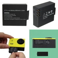2Pcs 3.7V 900mAh Rechargable Li-ion Battery For SJ4000 WiFi SJ5000 WiFi M10 SJ5000x Elite Goldfox Action Camera 4
