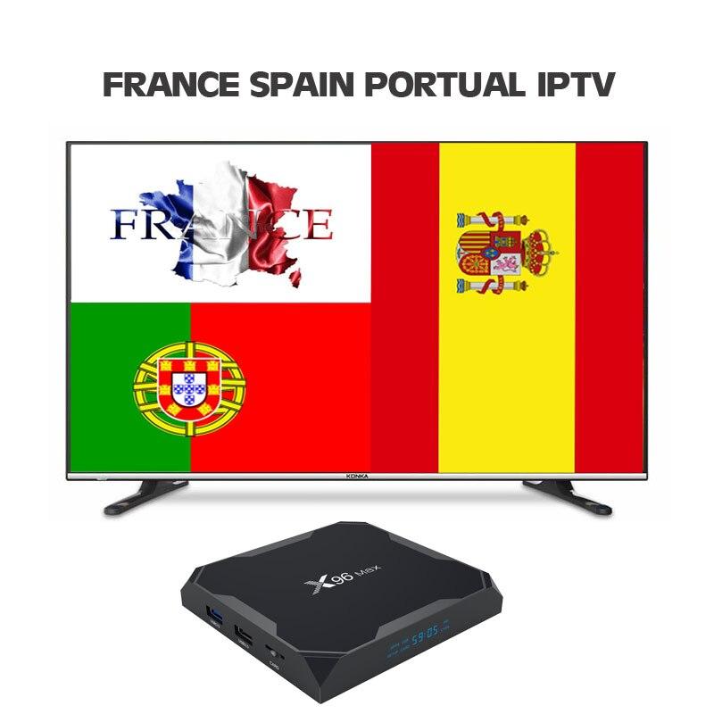 1 anno Francia francia Spagna Portogallo Adulto IPTV Abbonamento Brasile Svezia Albania Conto Per Il Iphone M3U Smart Tv Enigma2 Mag