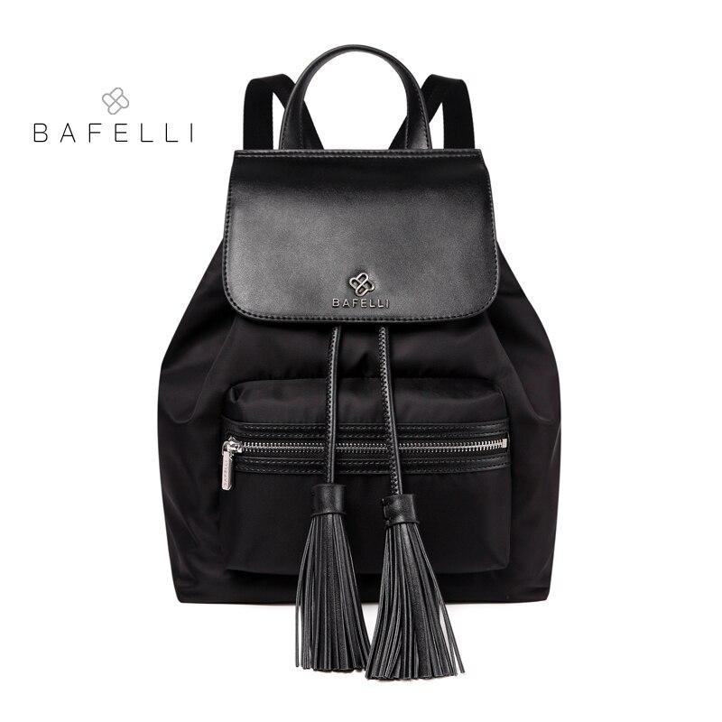 BAFELLI womens backpack waterproof nylon tassel drawstring backpack women travel bag for teenage girls backpack womens backpack цена и фото