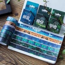 24 pcs/Lot Secret garden & forest paper washi tape tree color masking tapes stickers diary book album FJ896