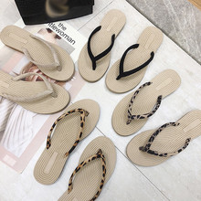 Женские Вьетнамки; модные красивые шлепанцы; повседневные пляжные шлепанцы на плоской подошве; обувь с круглым носком; красивые уличные шлепанцы