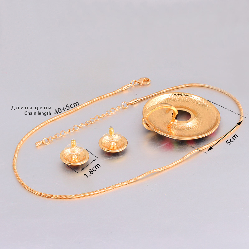 Color Design (Necklace, Earring) 1