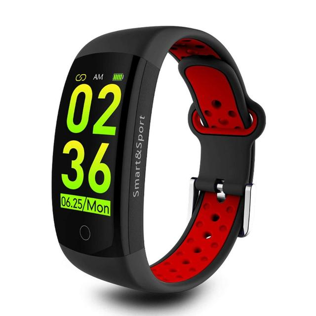AiSDO Fitness Bracelet IP68 Waterproof Dynamic Heart Rate Blood Pressure Monitoring Fitness Tracker Smart Bracelet for Men Women