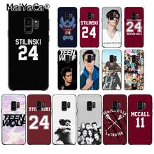 MaiYaCa Dylan O'Brien Teen Wolf Stilinski 24 McCALL 11 Phone Case for Samsung Galaxy S9 plus S7 S6 S10 Lite S10Plus S10E S8 plus(China)