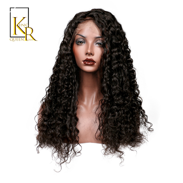 Lace Front Human Hair Wigs For Women Remy Brazilian Deep Wave Wig Bleached  Knots Plucked With Baby Hair King Rosa Queen 1cbfb6c4e
