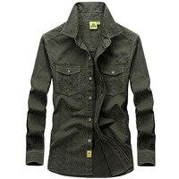 Spring Autumn Casual Shirts Men Long Sleeve Cotton Dress Shirts Plus Size 5XL Brand Military Shirt Men Camisa Social Masculina