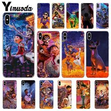 Yinuoda Dreaming around the world Coco Pattern TPU Soft Phone Cell Phone Case for Apple iPhone 8 7 6 6S Plus X XS MAX 5 5S SE XR yinuoda g dragon peaceminusone pattern tpu soft phone cell phone case for apple iphone 8 7 6 6s plus x xs max 5 5s se xr cover