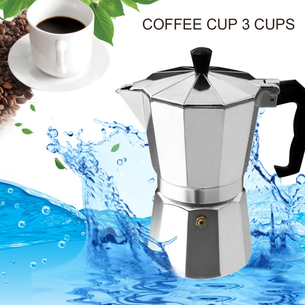 Moka Espresso coffee maker Moka Percolator Pot 3 cup/6 cup Aluminum 8-Angle Moka Pot Espresso Stove Top Coffee Maker Moka стоимость