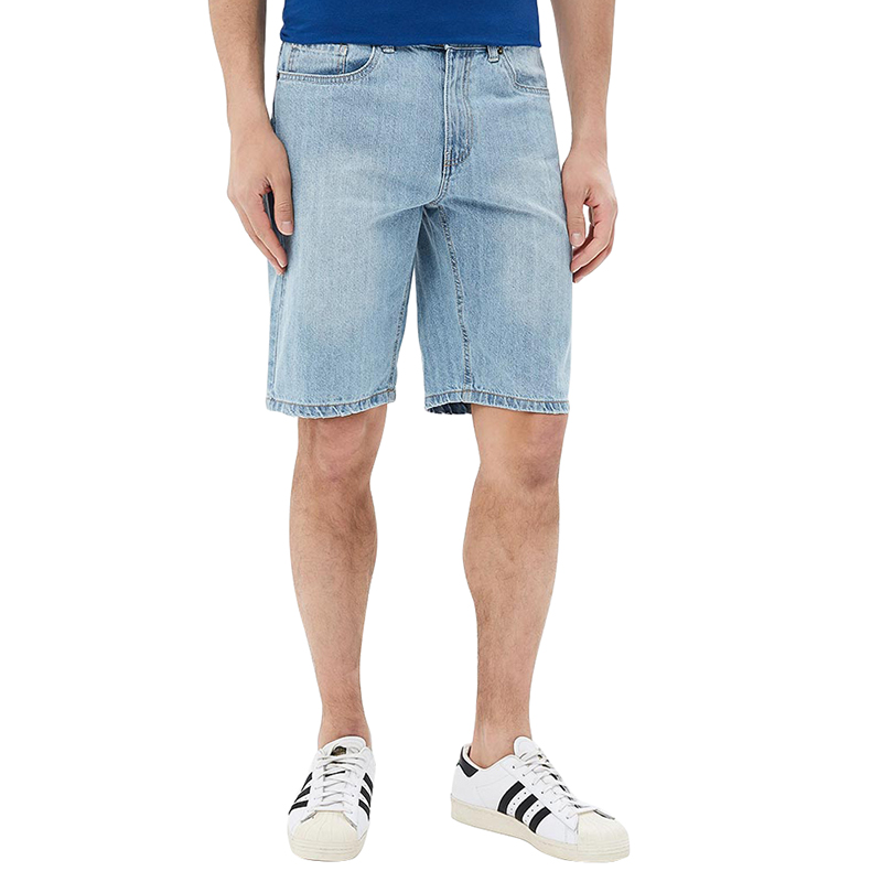 Casual Shorts MODIS M181D00257 men cotton shorts for male TmallFS 2016 new summer mens straight denim shorts large yards five cents knee length jeans shorts for man high quality cotton jeans men