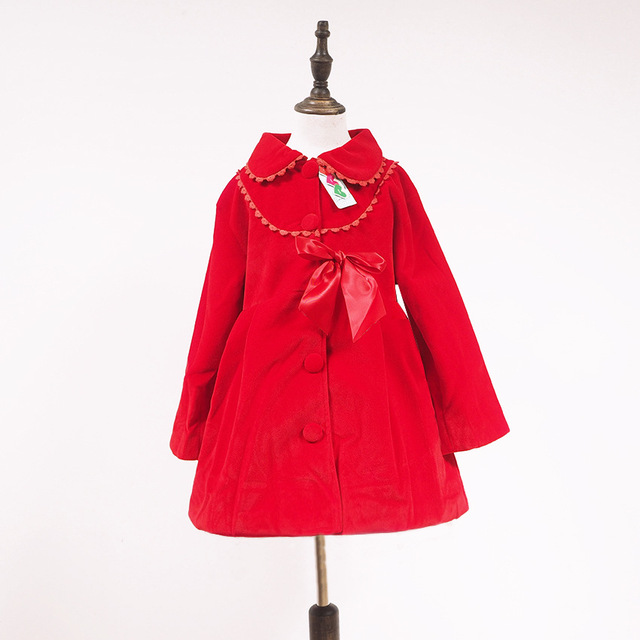 Christmas jacket for Girl Clothes kids Outerwear Winter Girls Coat Jacket  New Year Girl clothes woolen coat  3-7 years