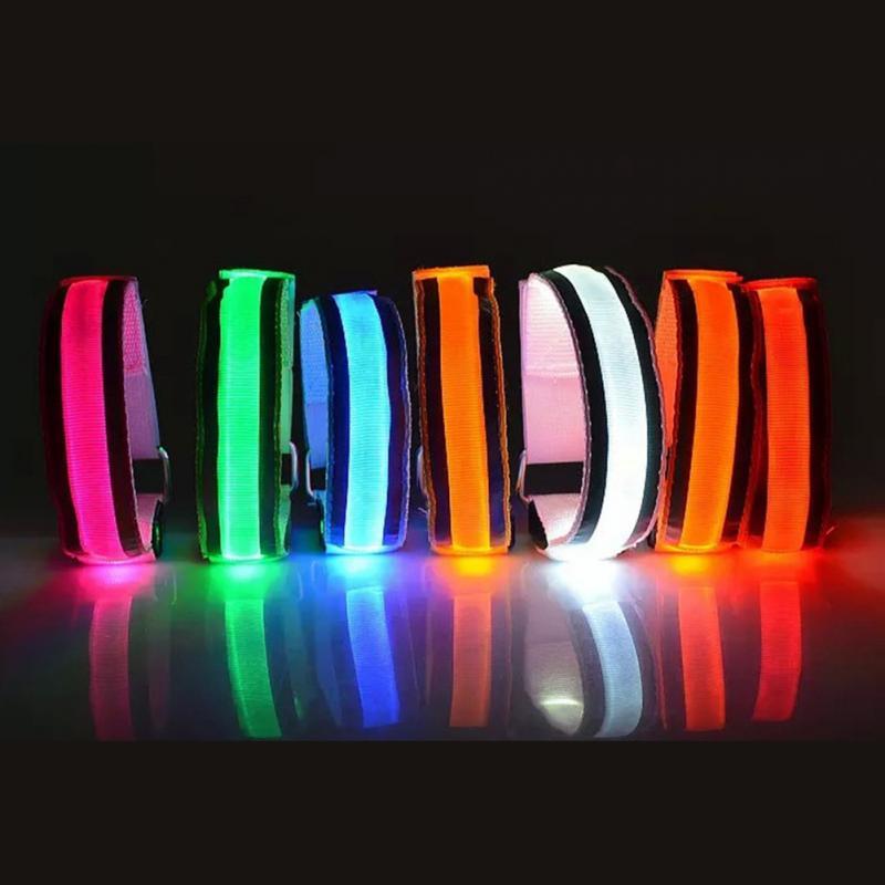 Strap Armband Wrist-Bracelets Safety-Belt Light-Arm Cycling Reflective LED For -18