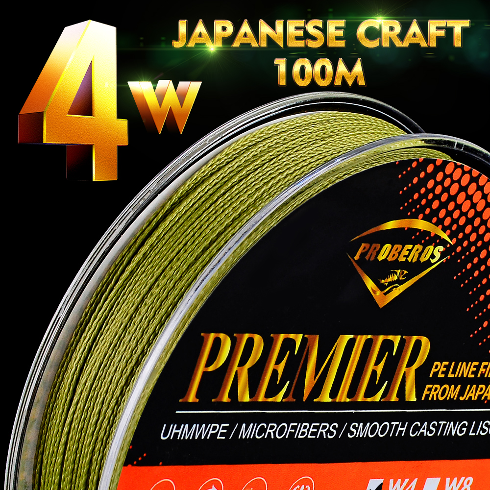 PE Fishing Line 4 Strands Weaves 6LB-90LB Japan Craft Super Strong Multifilament Braided Smooth Braids Wire Fishing Tackle