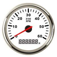 Tacómetro de barco para coche, medidor de tacómetro marino con LCD, reloj de arena, 4000/6000/ 8000 RPM, apto para motor diésel y gasolina