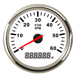 Boat Tachometer Marine Car Tacho Meter with LCD Hourmeter 4000/6000/ 8000 RPM Gauge fit for Diesel & Gasoline Engine(China)
