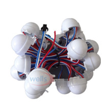 20 /Lot WS2811 30mm Diffused LED Pixel Module Full Color 3 LEDs 5050 RGB 12V DC