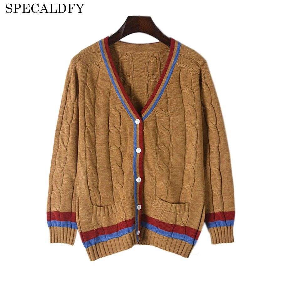 Fall 2018 Fashion Designer Brand Sweaters For Women Autumn Knitted Sweater Coat Winter Cardigan Feminino Pull Femme Jumper