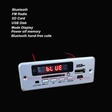 1 компл./лот MP3 WAV Аудио Декодер 3 Вт + 3 Вт Аудио-Проигрывателя Bluetooth Модуль Усилителя Мощности Рук-свободный звонки Белый Панели