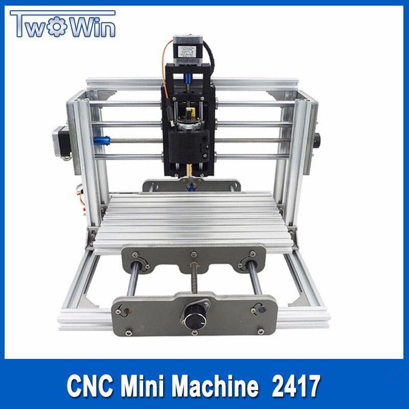 cnc 2417、diy cnc彫刻機、3軸ミニpcb pvcフライス盤、メタルウッド彫刻機、cncルーター、cnc2417、grbl controトリジャサイズ