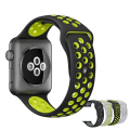 Para apple watch banda de silicona deporte nike + smartwatch correa 38mm 42mm mezcla correa de muñeca colorida