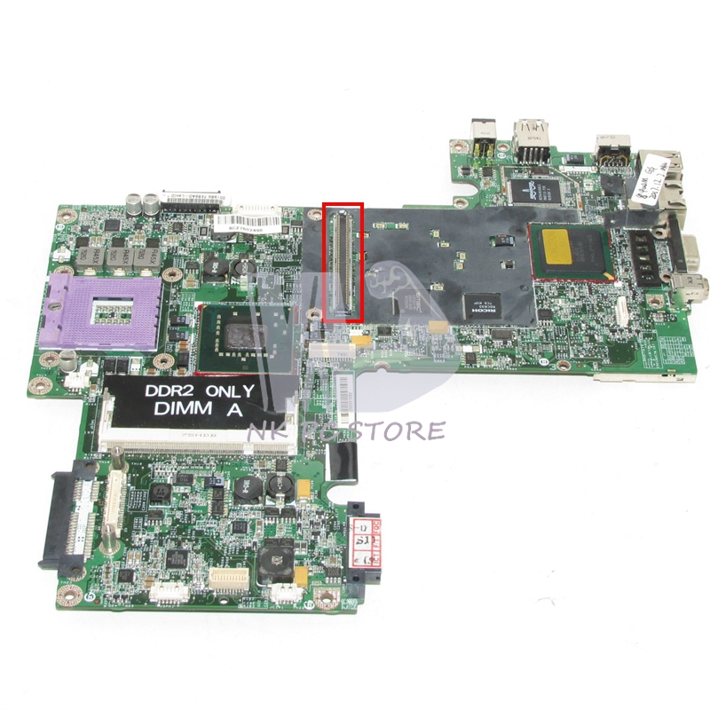NOKOTION For Dell 1520 Laptop motherboard CN-0KU926 0KU926 KU926 DDR2 with Video Card Slot Free CPU