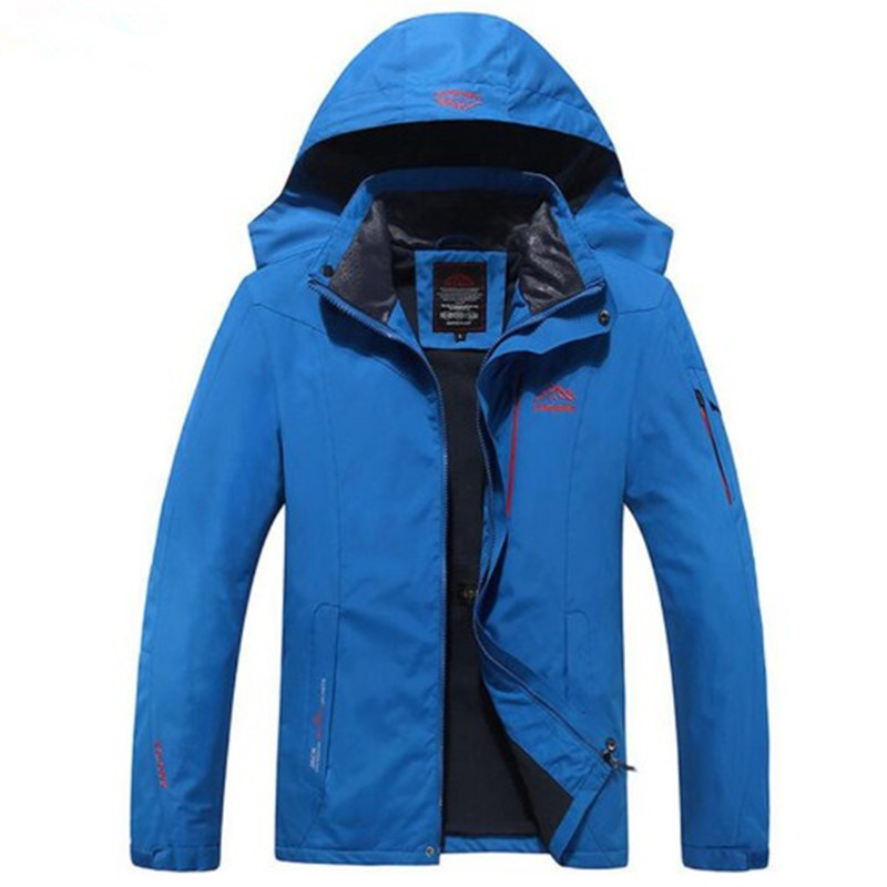Super Size 6XL 7XL 8XL Men's Jacket Demi Season Quality Brand Waterproof and Wind proof Jacket Overcoat Mountaineering Jacket-in Jackets from Men's Clothing    1
