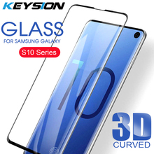 KEYSION 3D Glass For Samsung Galaxy S10 Plus Screen Protector Tempered S10+ S10E Curved Cover Film