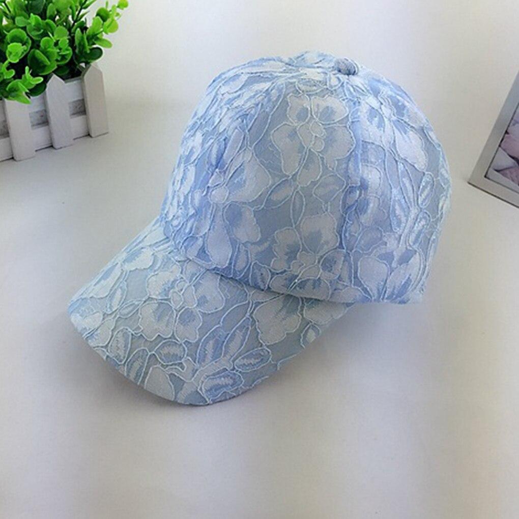 2019 Spitze Muster Mädchen Reine Farbe Atmungsaktive Mesh Baseball Hip Hop Cap Einstellbar Sommer Weibliche Hut Für Frauen Wohltuend FüR Das Sperma