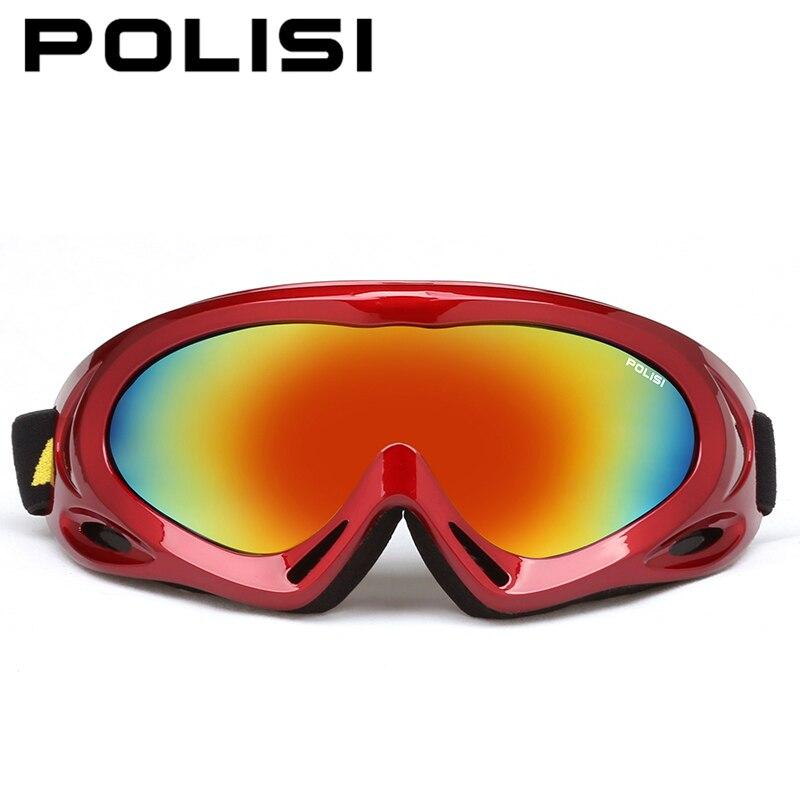 Prix pour POLISI D'hiver En Plein Air Sport De Motoneige Ski Lunettes Hommes Femmes Anti-Brouillard Snowboard Lunettes De Protection UV400 Ski Lunettes