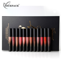 12 Colors Liquid Matte Lipstick Cosmetics Makeup Nude Lip Lipsticks Metallic Lip Gloss Stick Make Up