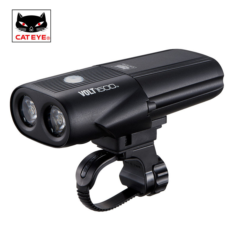 CATEYE 1600 Lumen Bicycle Light Cycling Professional Super Light Headlights Handlebar Front Lights High Intensity 2 LED 5 Modes cateye hl el930rc bike rechargeable lamp super bright sumo3 light bicycle headlights