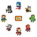 Loz diamond bloques superhéroe de marvel avengers iron man batman capitán américa thor mini bloques nanoblock juguete para el regalo con caja