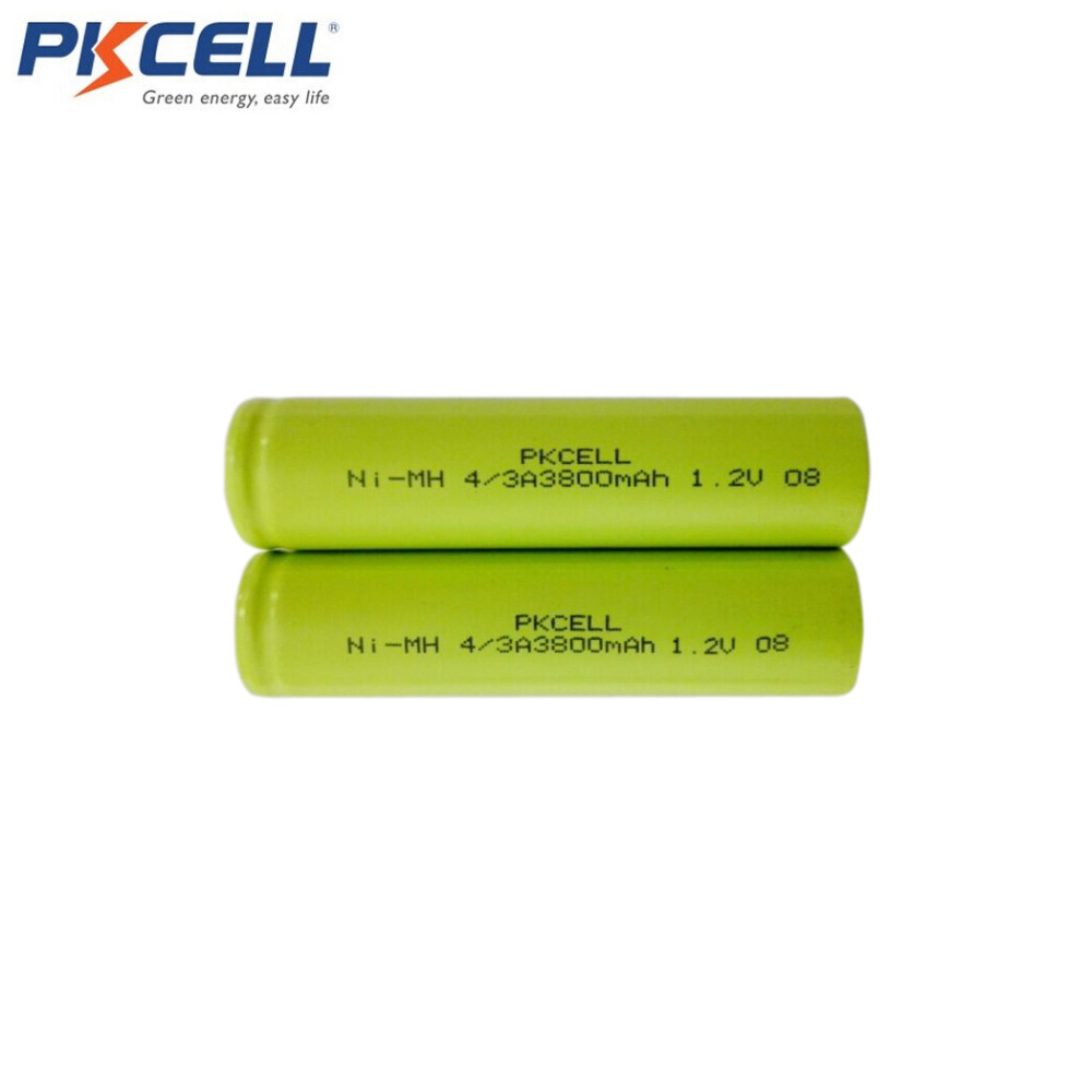 10Pcs 4/3A 1.2V 3800mAh NiMH 18670 17670 Rechargeable Battery Industrial Packing DIY Design Including Soldering Welds