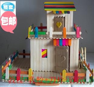 Ice Cream Stick Model Diy Little House Model Popsicle Sticks