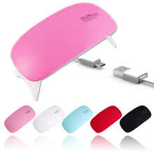 Mini UV/LED Lamps Foldaway Nail Art UV Lamp Simple Style USB LED Portable Ultraviolet For Gel NUV