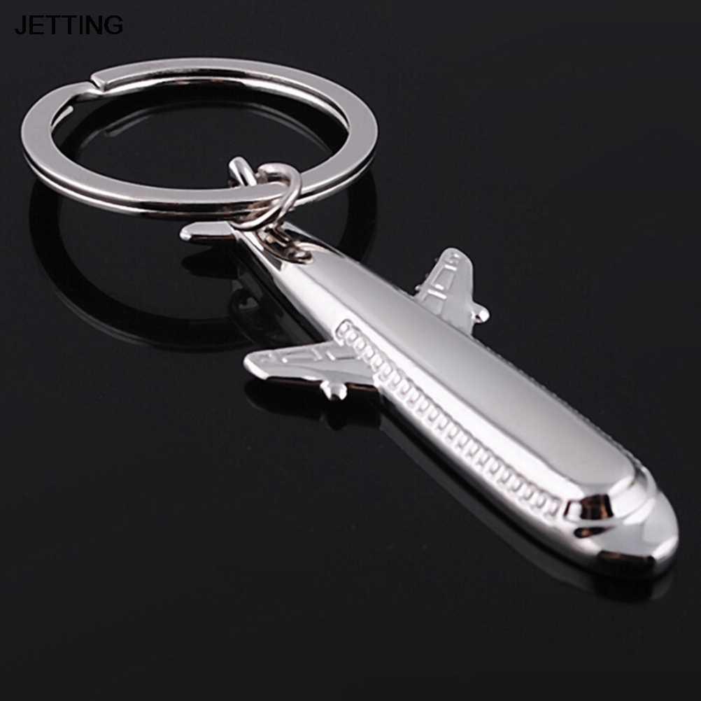 JETTING 1 PC แฟชั่นเครื่องบินเครื่องบินโลหะ Key Chain พวงกุญแจ Keyring Keyring รถจัดแต่งทรงผมอุปกรณ์ตกแต่ง